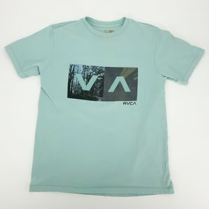 RVCA Blue Short Sleeve Graphic T Shirt Small